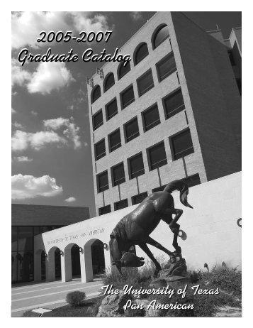 2005-2007 Graduate Catalog 2005-2007 Graduate Catalog