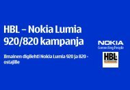 HBL – Nokia Lumia 920/820 kampanja - Sonera