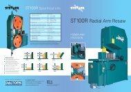 Stenner ST100R Band Resaw Literature - Wadkin