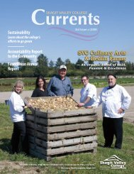 SVC Culinary Arts & Hedlin Farms - Skagit Valley College