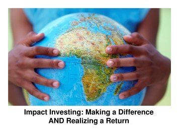 """Elizabeth Kraus – """"Social Impact Investing – Making a Difference"""