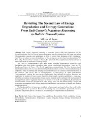 Revisiting The Second Law of Energy Degradation and ... - Kostic