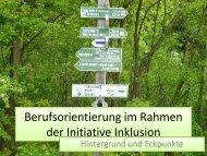 Berufsorientierung der Initiative Inklusion in Thüringen - Die IBS GmbH