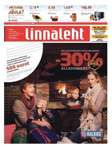 500 eurot - Linnaleht