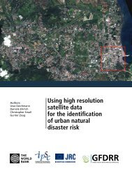 Using high resolution satellite data for the identification of ... - GFDRR