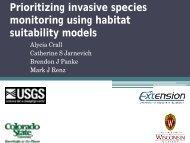 Prioritizing invasive species monitoring using habitat suitability models