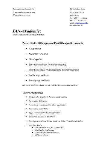 IAN-Akademie: - IAN - Internationale Akademie für Angewandte ...