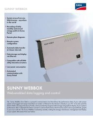 SUNNY WEBBOX - Web-enabled data logging and ... - SkyFire Energy