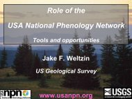 Role of the USA National Phenology Network