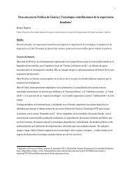 Para una nueva Política de Ciencia y Tecnología: contribuciones de ...