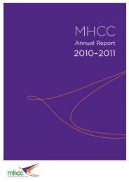 2010-11 Annual Report - Mental Health Coordinating Council