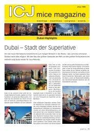 Dubai – Stadt der Superlative - ICJ mice marketing
