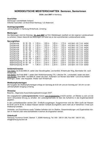 Hamburg - Bremer Leichtathletik-Verband