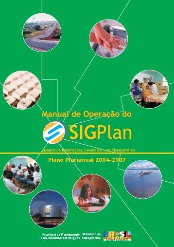 Manual de Operação do SIGPlan