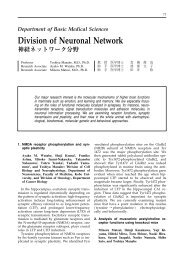 Division of Neuronal Network