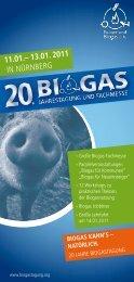 11.01.– 13.01. 2011 IN NÜRNBERG - BIOGAS Jahrestagung und ...