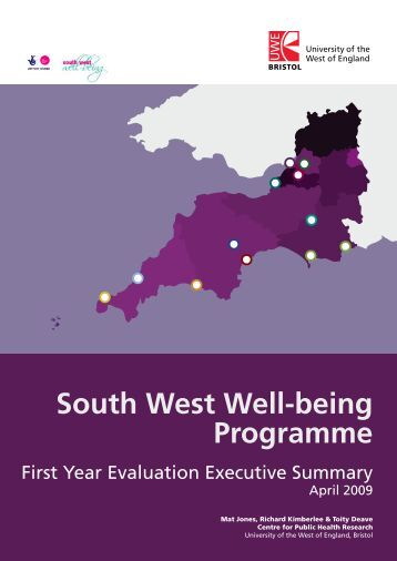 South West Well-being Programme - University of the West of England