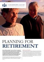 Retirement Planning For Your - Cockburn Lucas
