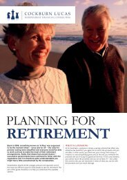 Retirement Planning For Your - Cockburn Lucas