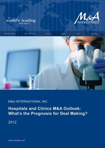 Hospitals and Clinics M&A Outlook - M&A International Inc.
