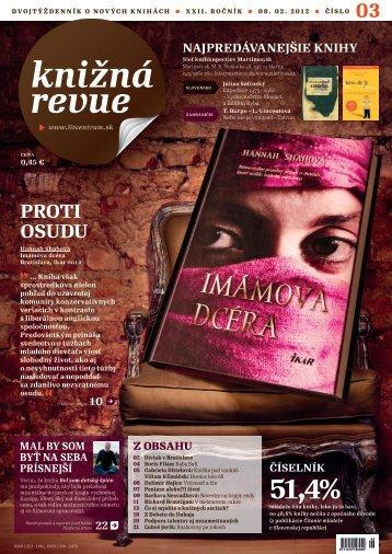2012 / č. 3 (PDF-formát, 5.2 MB) - Literárne informačné centrum
