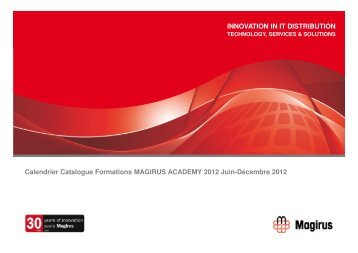 Calendrier Catalogue Formations MAGIRUS ACADEMY 2012 Juin ...