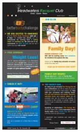 February Newsletter - Headwaters Racquet Club