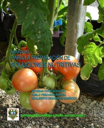 soluciones nutritivas soluciones nutritivas - Nutricao de Plantas