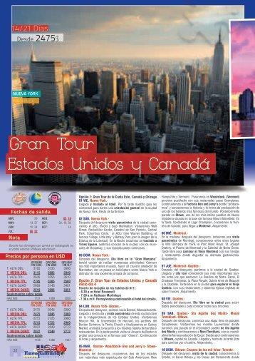 Estados Unidos y Canadá Gran Tour - Europamundo