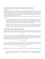 Reference/Additional Material: Simple Linear Regression 2 The ...