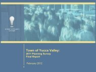 General Plan Survey Report - Town of Yucca Valley