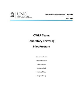 Final Report - Institute for the Environment at UNC