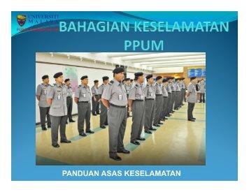 PANDUAN ASAS KESELAMATAN - Login Portal PPUM