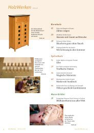 HolzWerken Inhalt - Holzwerken - HolzWerken.net