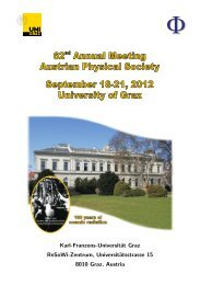 abstract book is available online here - Austrian Physical Society