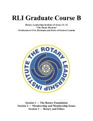 RLI Graduate Course B - Rotary Leadership Institute