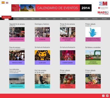 Calendario de Eventos 2014 Calendar of Events