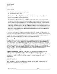 English III Honors - Summer Reading