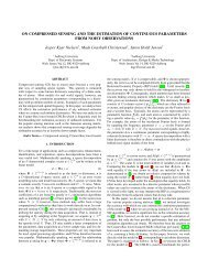 ON COMPRESSED SENSING AND THE ESTIMATION OF ...