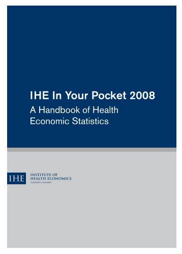 IHE In Your Pocket 2008 - Institute of Health Economics