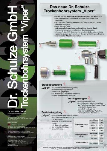 "Trockenbohrsystem ""V iper"" - Dr. Schulze GmbH"