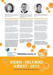 VIDEN IVELFÆRD VÆKST I 2012 - Lev Vel