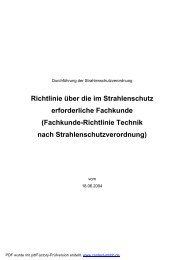 Fachkunde-Richtlinie Technik nach StrlSchV - Forum ...