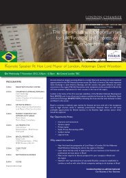 The City and Brazil - London Chamber of Commerce and Industry