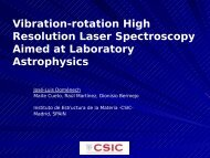 Vibration-rotation High Resolution Laser Spectroscopy Aimed at ...