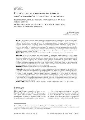 Produção científica sobre consumo de bebidas alcoólicas em - Uerj