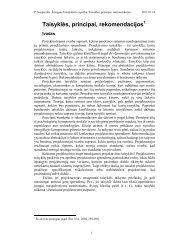 Sąveikos projektavimo taisyklės, principai, rekomendacijos