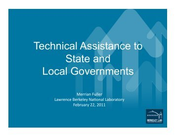 Technical Assistance to State and Local Governments - steab