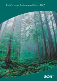 Acer Corporate Environmental Report 2007 - Acer Group