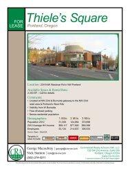 Portland, Oregon Thiele's Square - Commercial Realty Advisors